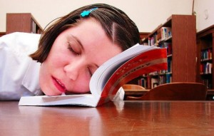 Estudiante dormido