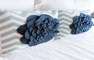 almohada decoracion flor
