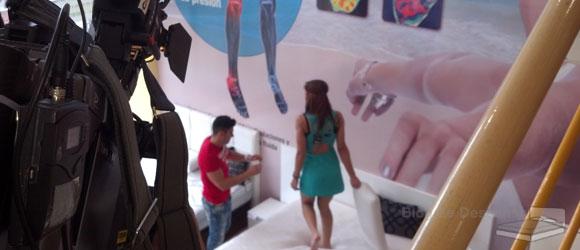 """Telecinco graba una capitulo de """"Mujeres y hombre y viceversa"""" en la tienda Colchón Exprés"""