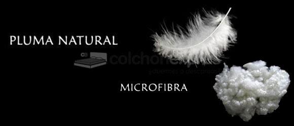Que es mejor fibra o pluma natural en los rellenos de edredones y almohadas
