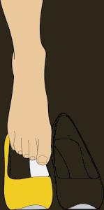 Zapato con plantilla