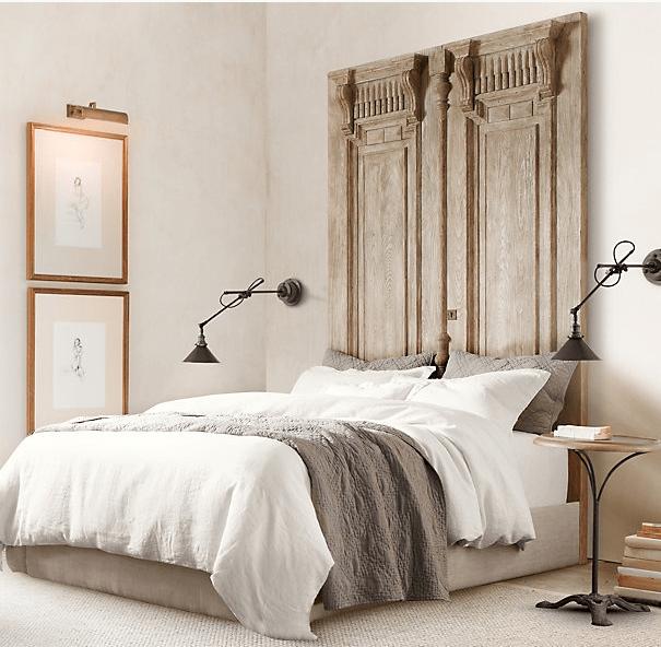 Ideas para cabeceros de cama - Cabeceros hechos con puertas