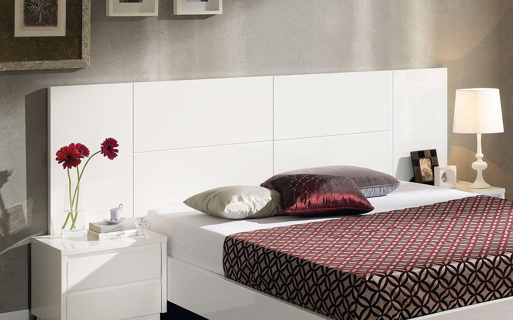 Cabeceros de cama elegantes y originales - Cabecero mesillas integradas ...