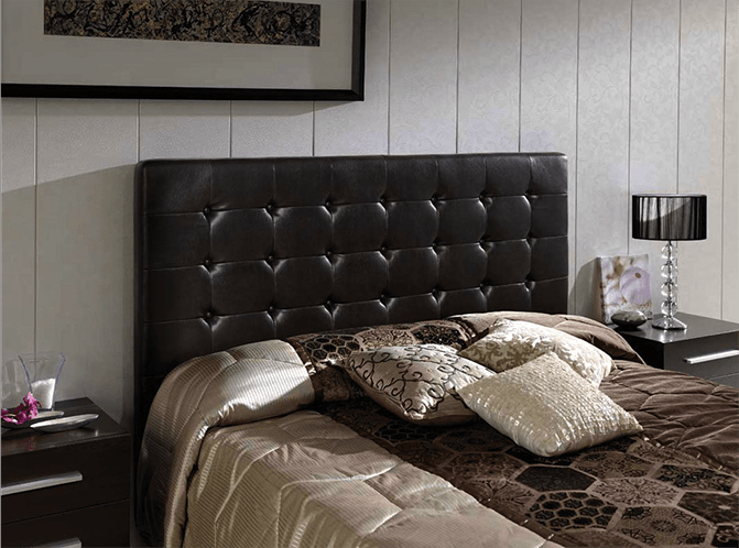 cabeceros de cama de matrimonio tapizado polipiel negro