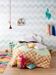 Cabeceros de cama infantiles con forma de nube