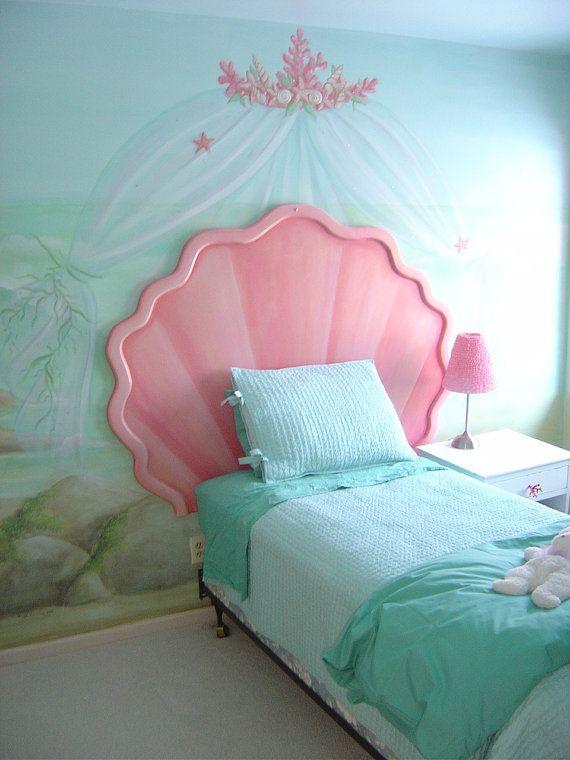 Cabeceros de cama infantiles con forma de concha de mar