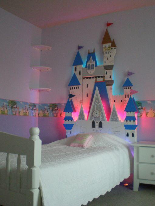 Cabeceros de cama infantiles con forma de castillo