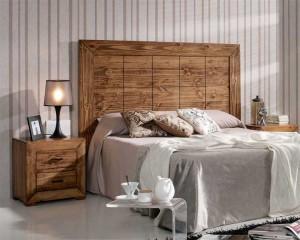 Cabecero de cama de madera rustico consejos del descanso - Cabeceros artesanales ...