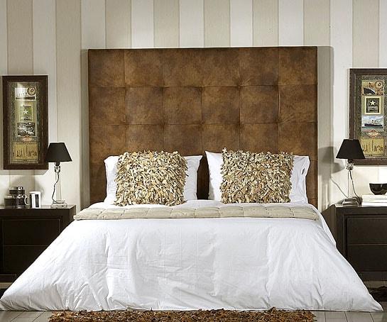 Selecci n de cabeceros acolchados para dormitorios - Cabeceros tapizados en tela ...