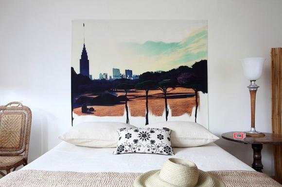 cabecero de cama artistico