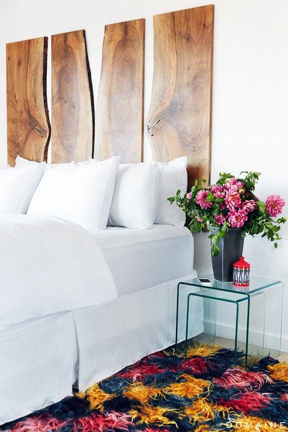 cabeceros de cama modernos de madera