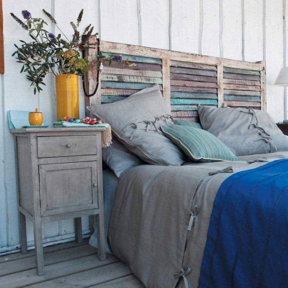 8 ideas de cabeceros de cama modernos y sencillos for Cama con palets