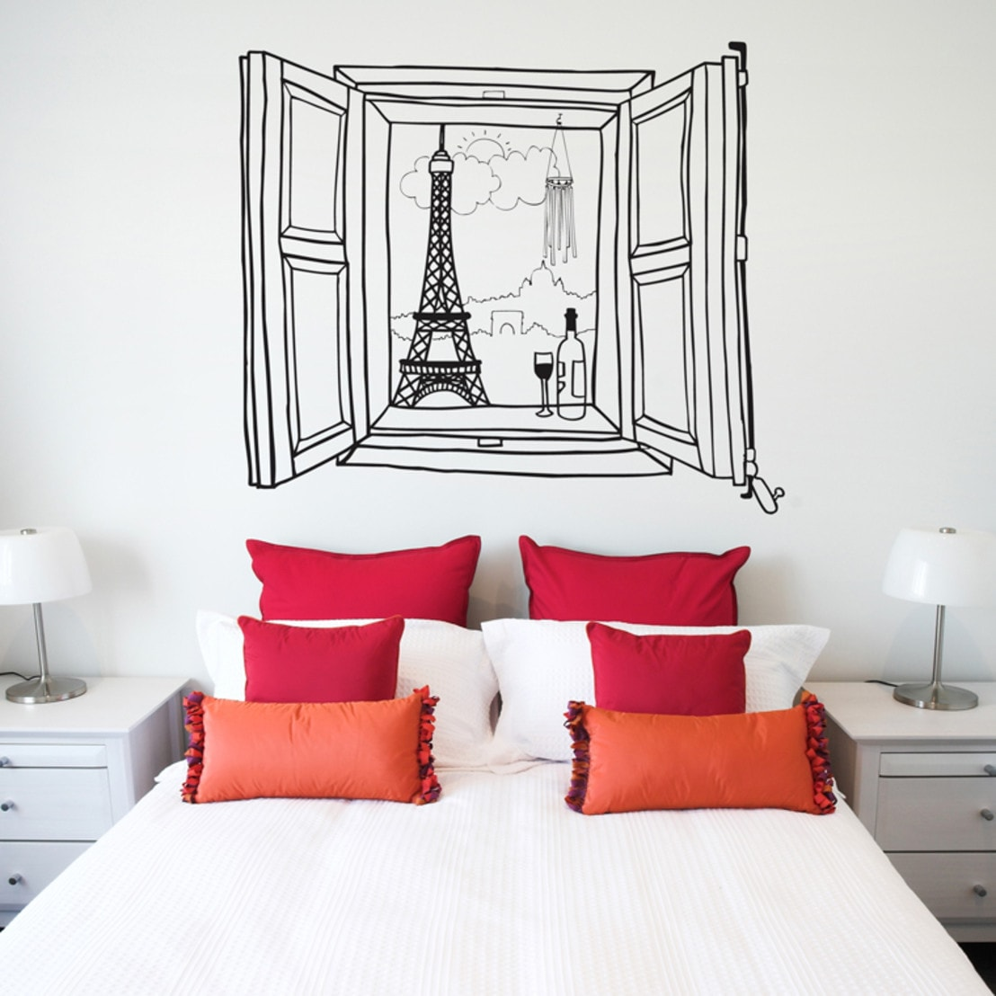 8 ideas de cabeceros de cama modernos y sencillos for Sticker para decorar dormitorios