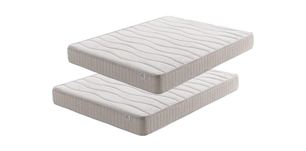 Oferta 2x1 de colchón viscoelástico con gel en ambas caras