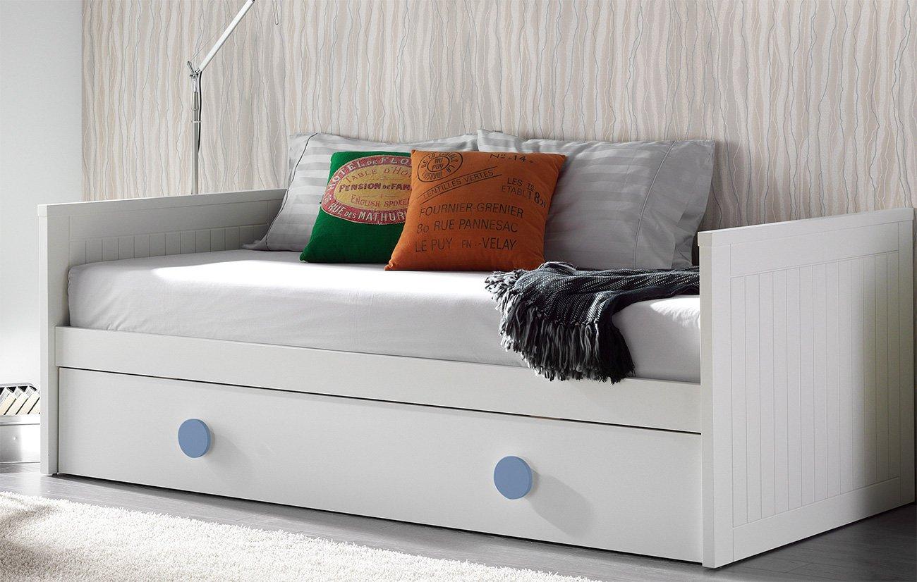 Qu colchones poner en una cama nido doble for Camas con cajones debajo