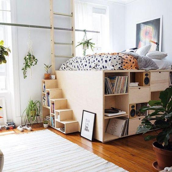 Máximo aprovechamiento de espacio en la habitación