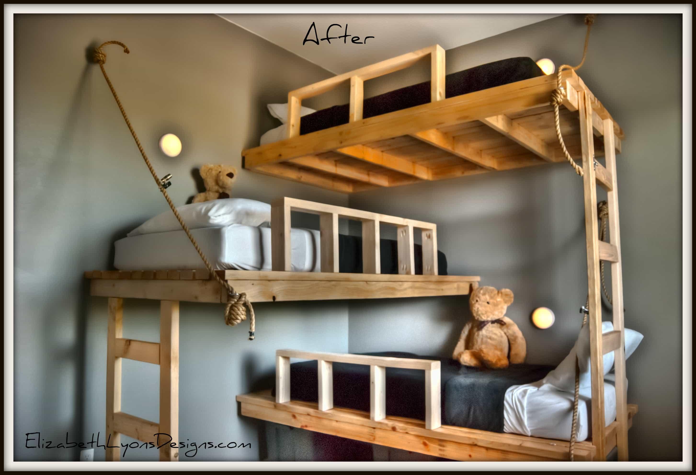 Literas De Tres Camas Compartir Habitaci N  # Muebles Literas Triples