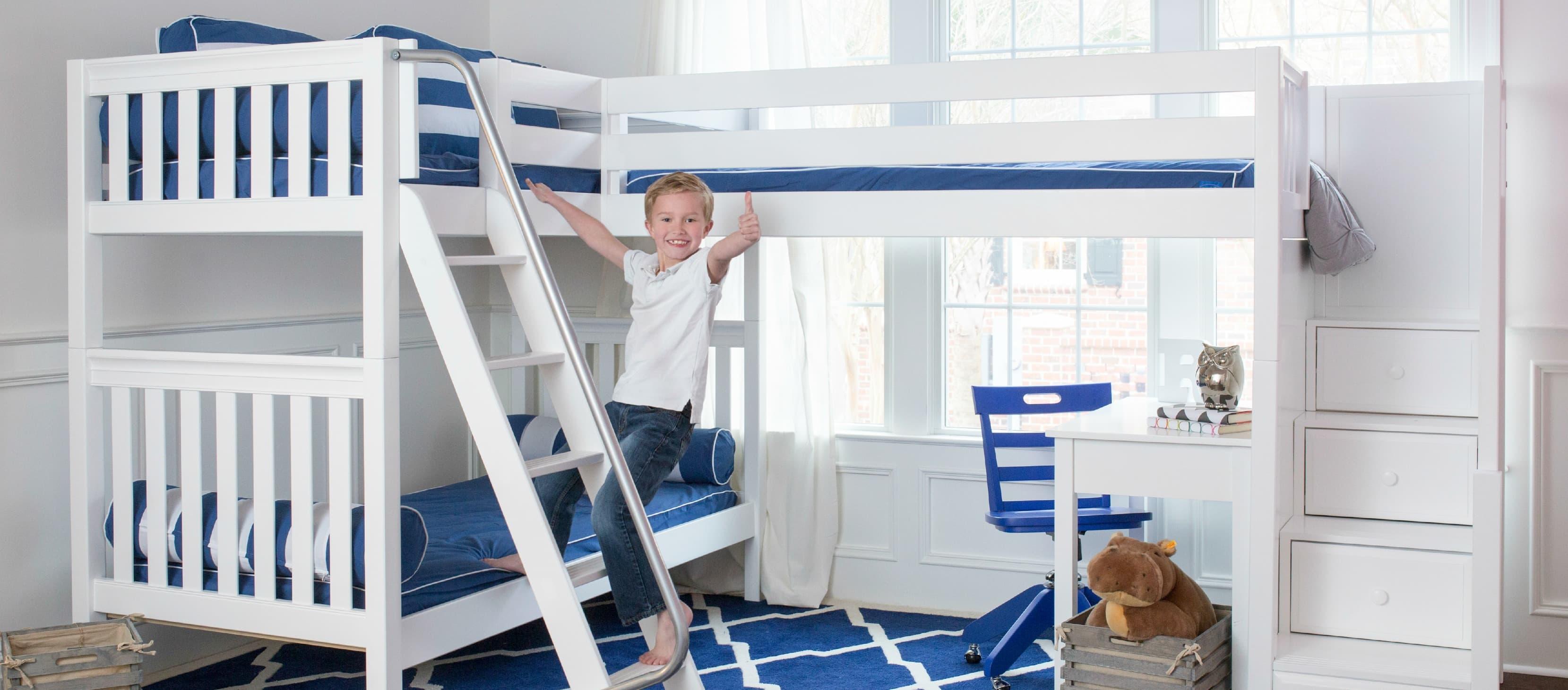 Literas de tres camas compartir habitaci n - Literas para ninos espacios pequenos ...