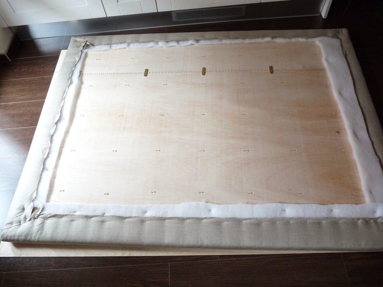 C mo hacer un cabecero barato colch n expr s - Hacer cabecero cama barato ...