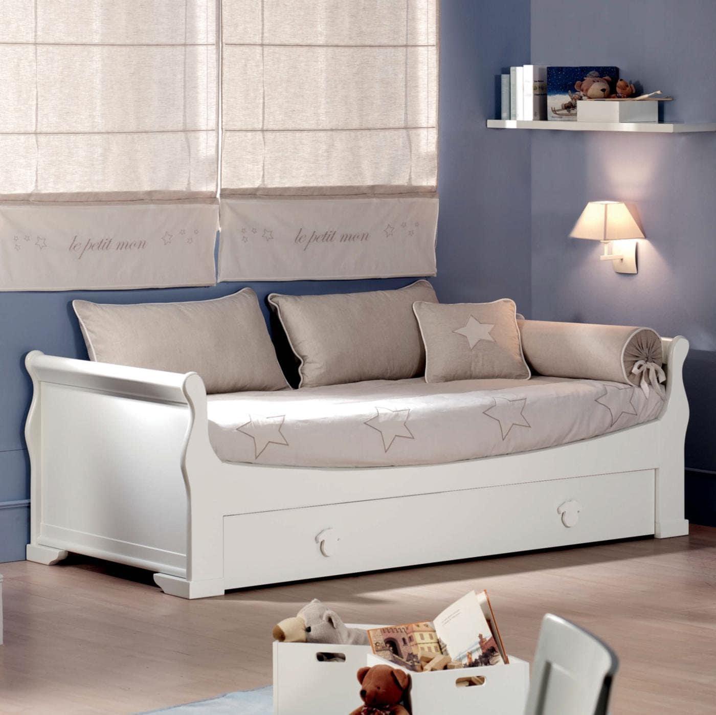 La versatilidad de las camas nido blancas for Camas blancas de madera