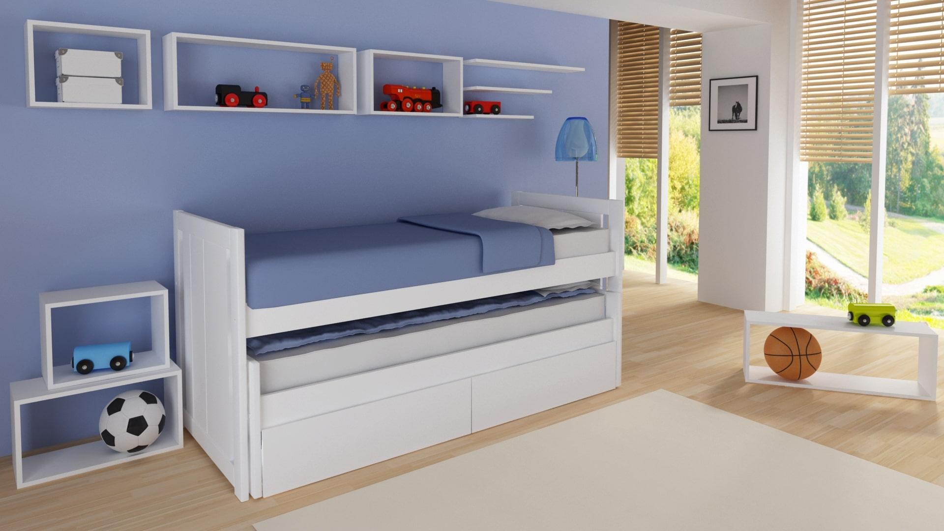 La versatilidad de las camas nido blancas