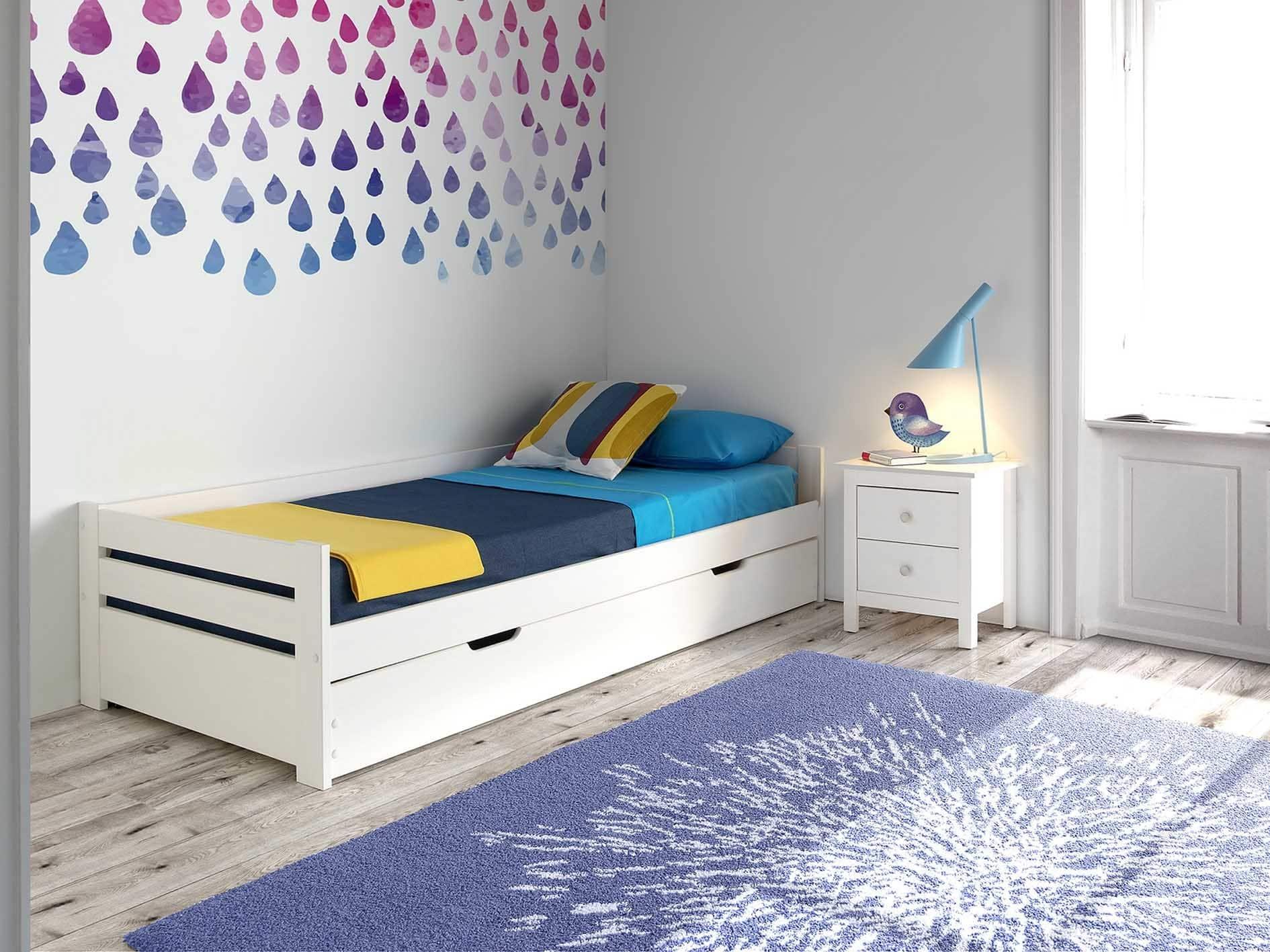 ideas de cama nido blanca para habitaciones infantiles