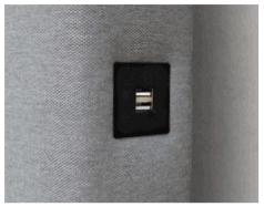 Puerto USB en Cabeceros de Tela