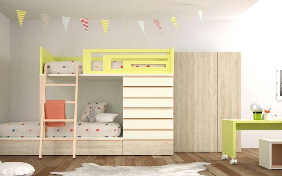 Literas con cama nido para habitaciones infantiles