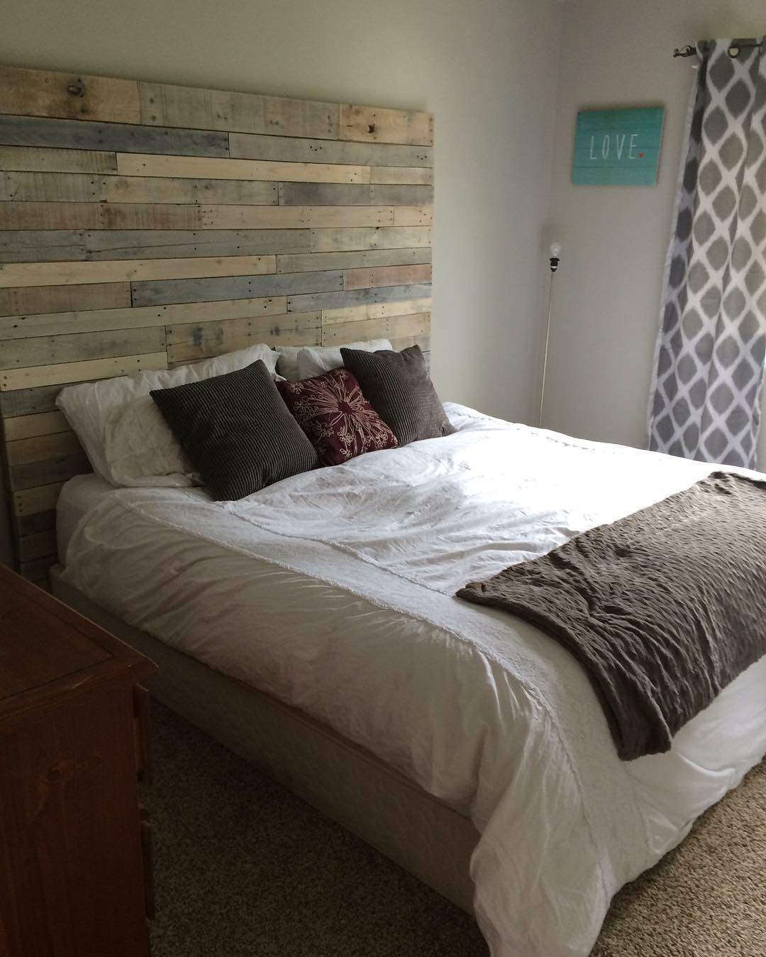 Painted Bed Frame Wood Headboards