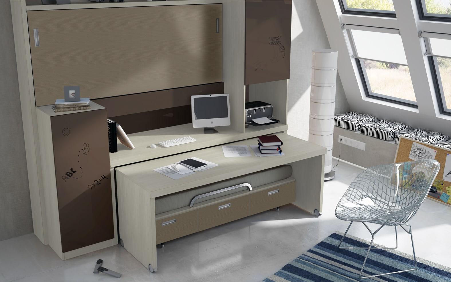 Camas nidos para dormitorios infantiles y juveniles for Camas juveniles con escritorio incorporado