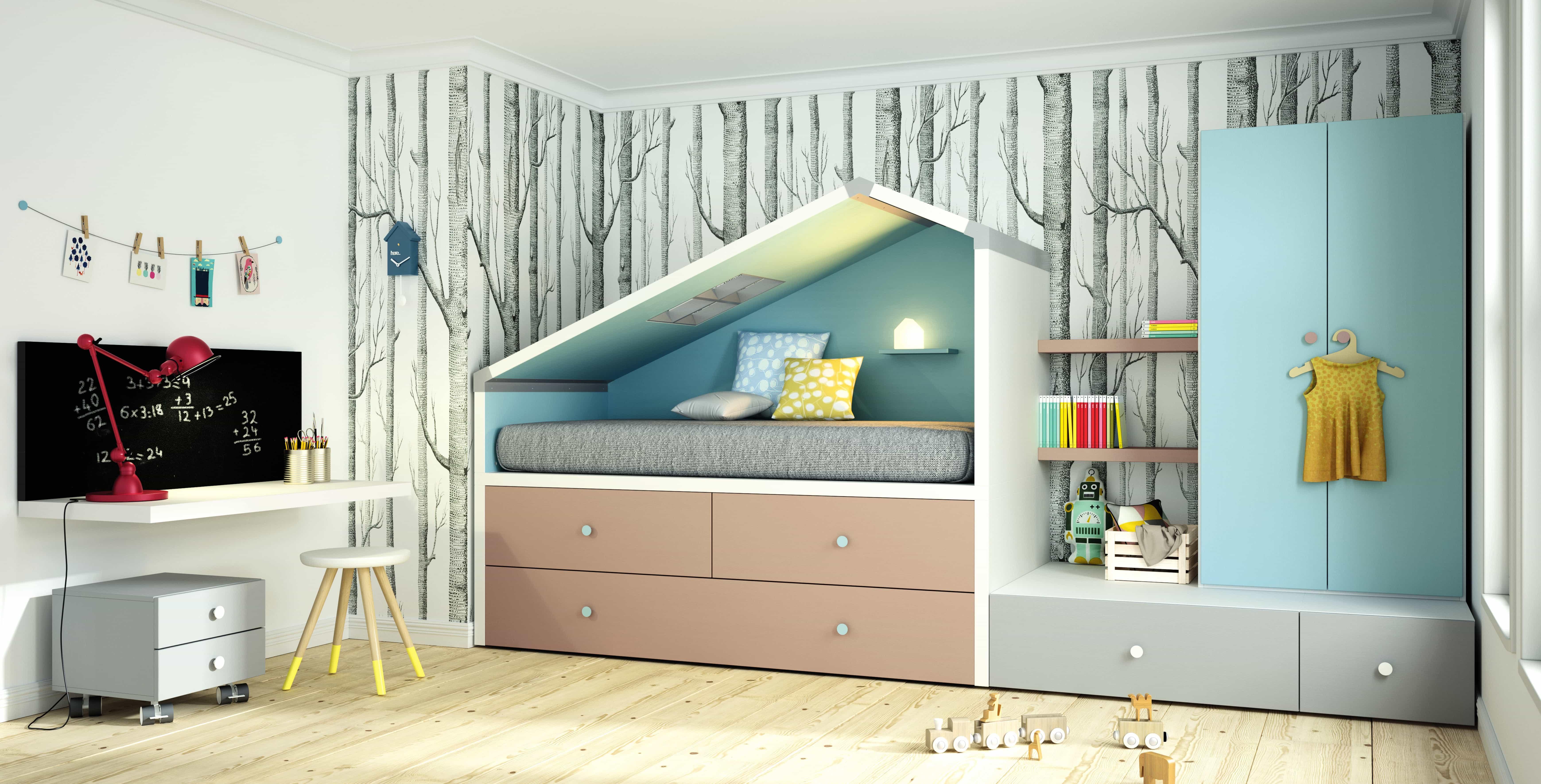 Camas nidos para dormitorios infantiles y juveniles for Dormitorios juveniles cama nido doble