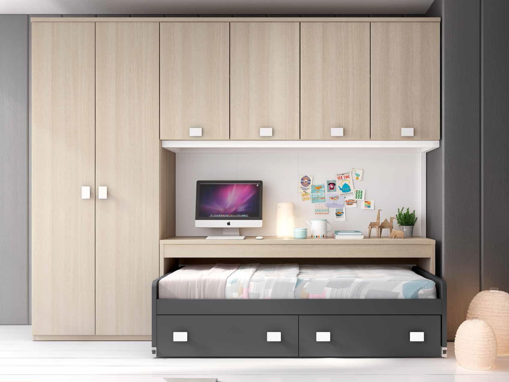 Camas nidos para dormitorios infantiles y juveniles for Armarios juveniles ikea