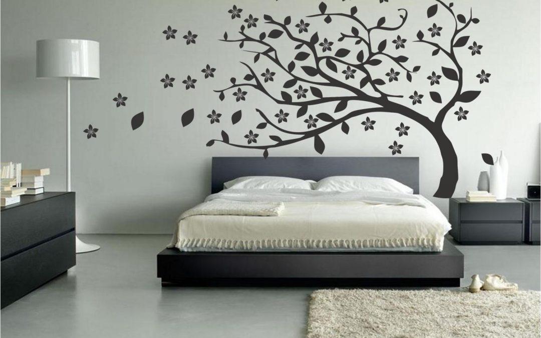 Vinilo cabecero de cama una idea diferente para tu for Decoracion de vinilos para dormitorios