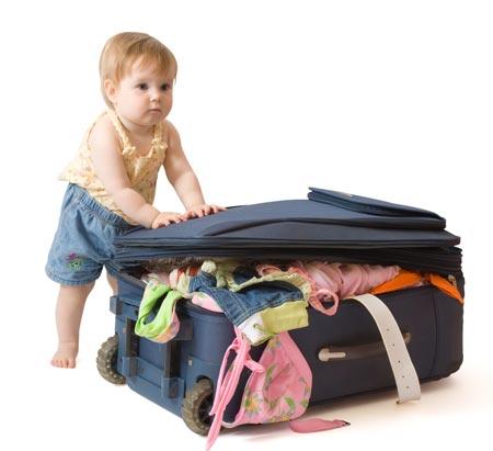 Bebé de viaje