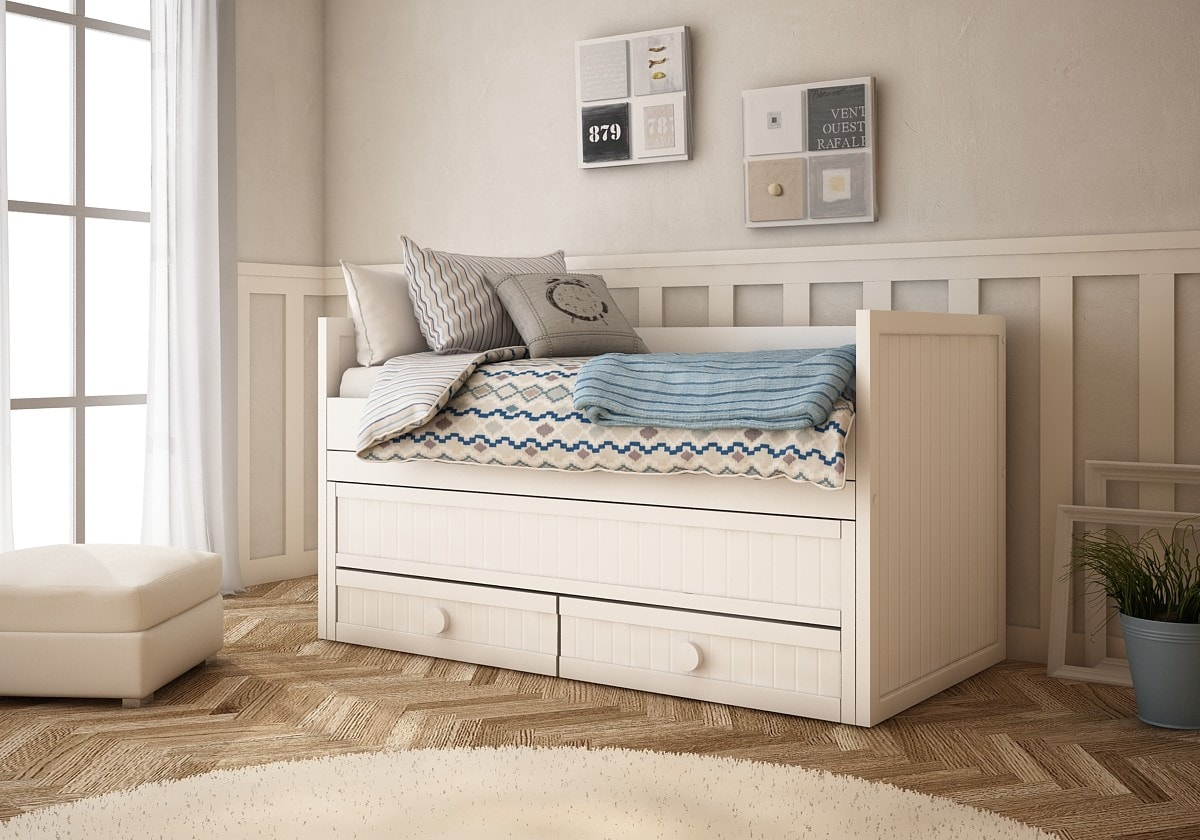 camas nido infantiles para dormitorios compartidos