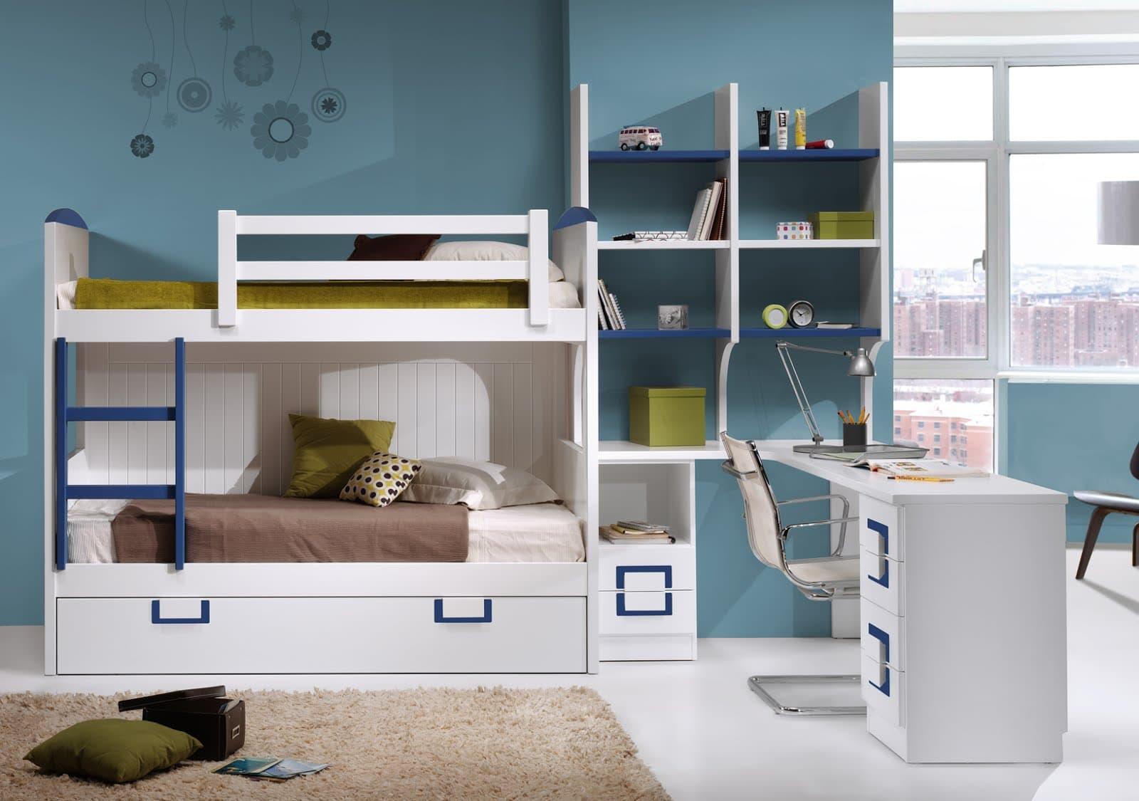 Literas para ni os seguras y funcionales colch n expr s - Dormitorios infantiles dobles ...