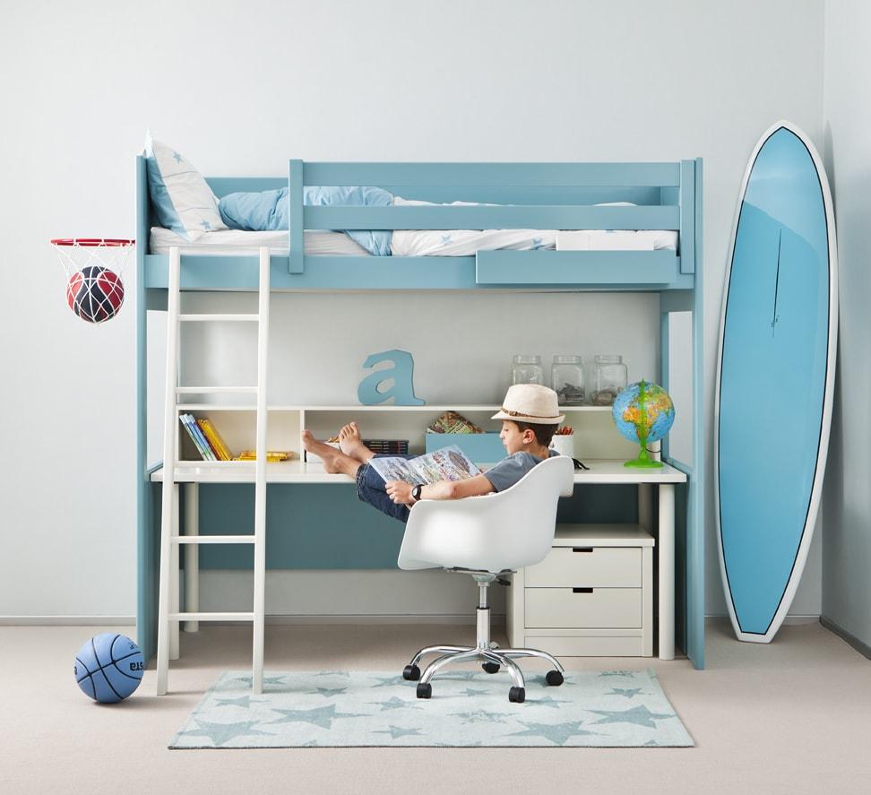 Camas elevadas para los dormitorios juveniles colch n expr s for Camas con almacenaje