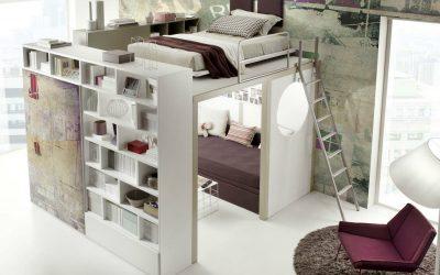 Camas elevadas para los dormitorios juveniles