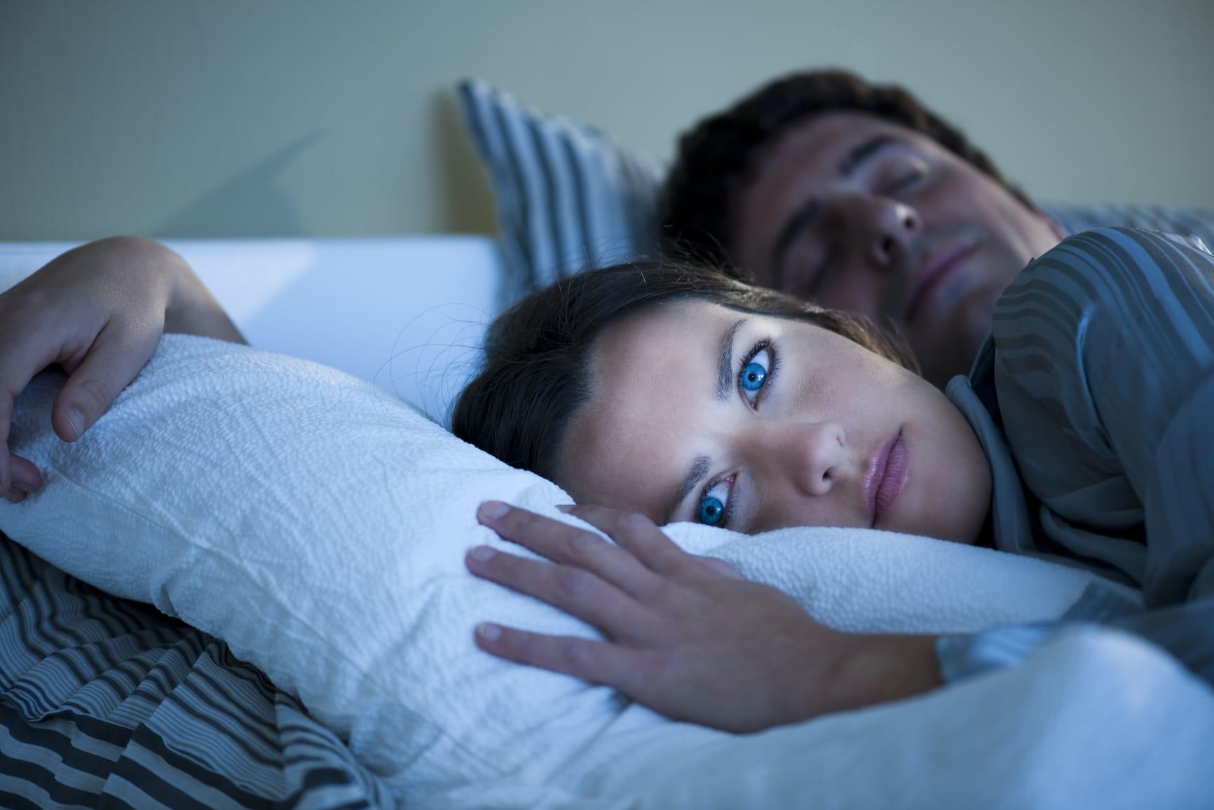Mujer que no puede dormir