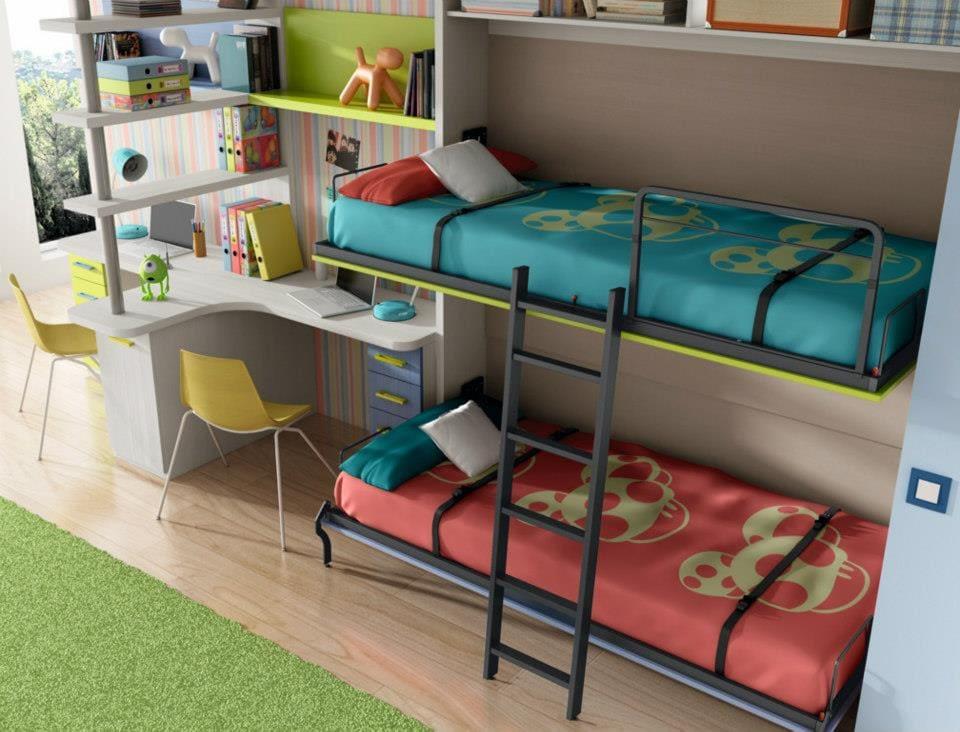 Literas peque as para habitaciones infantiles colch n expr s - Camas nido pequenas ...