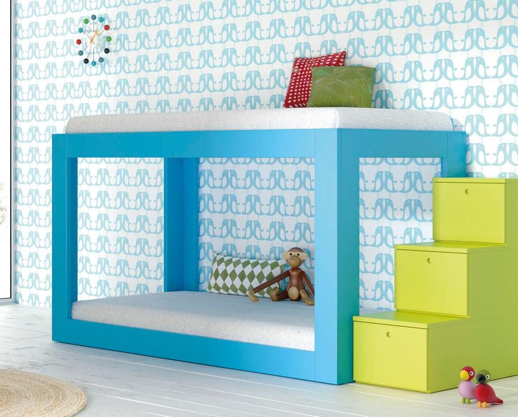 Literas peque as para habitaciones infantiles colch n expr s - Habitaciones infantiles compartidas pequenas ...
