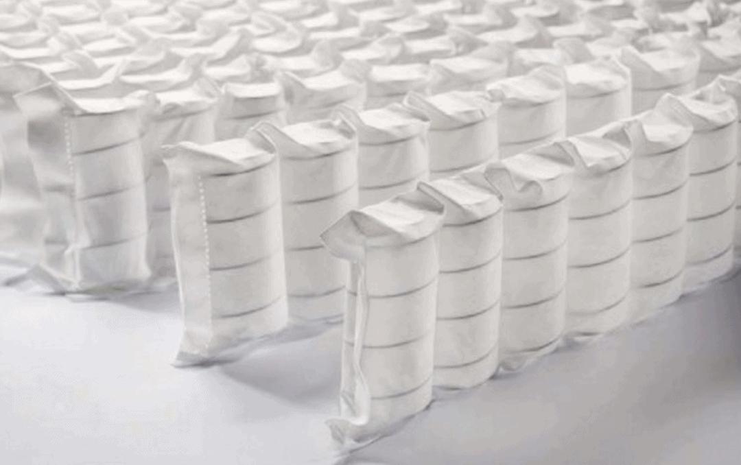 colchón de muelles ensacados y viscoelástica
