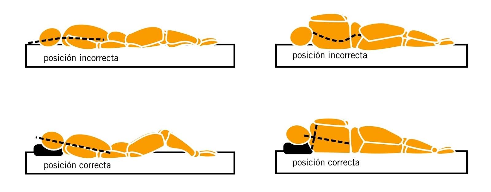 Posición de la columna para dormir bien