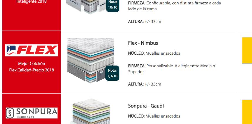 Mejor colch n flex calidad precio 2018 en oferta colch n for Mejor pintura interior calidad precio