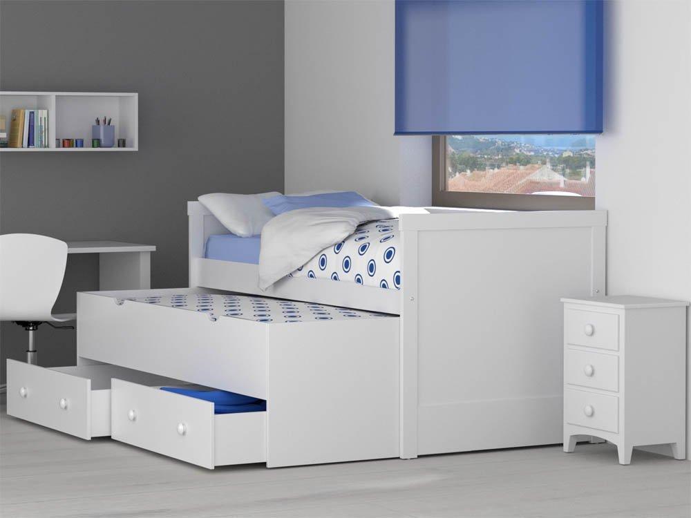 Camas compactas juveniles funcionalidad y espacio extra for Cama compacta infantil