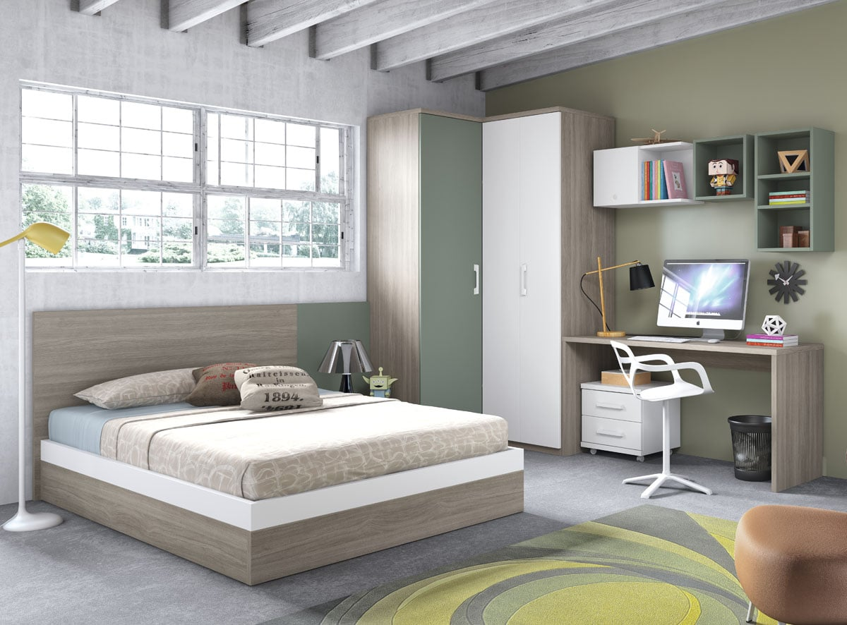 Camas dobles juveniles para todos los gustos colch n expr s for Dormitorios juveniles con cama grande