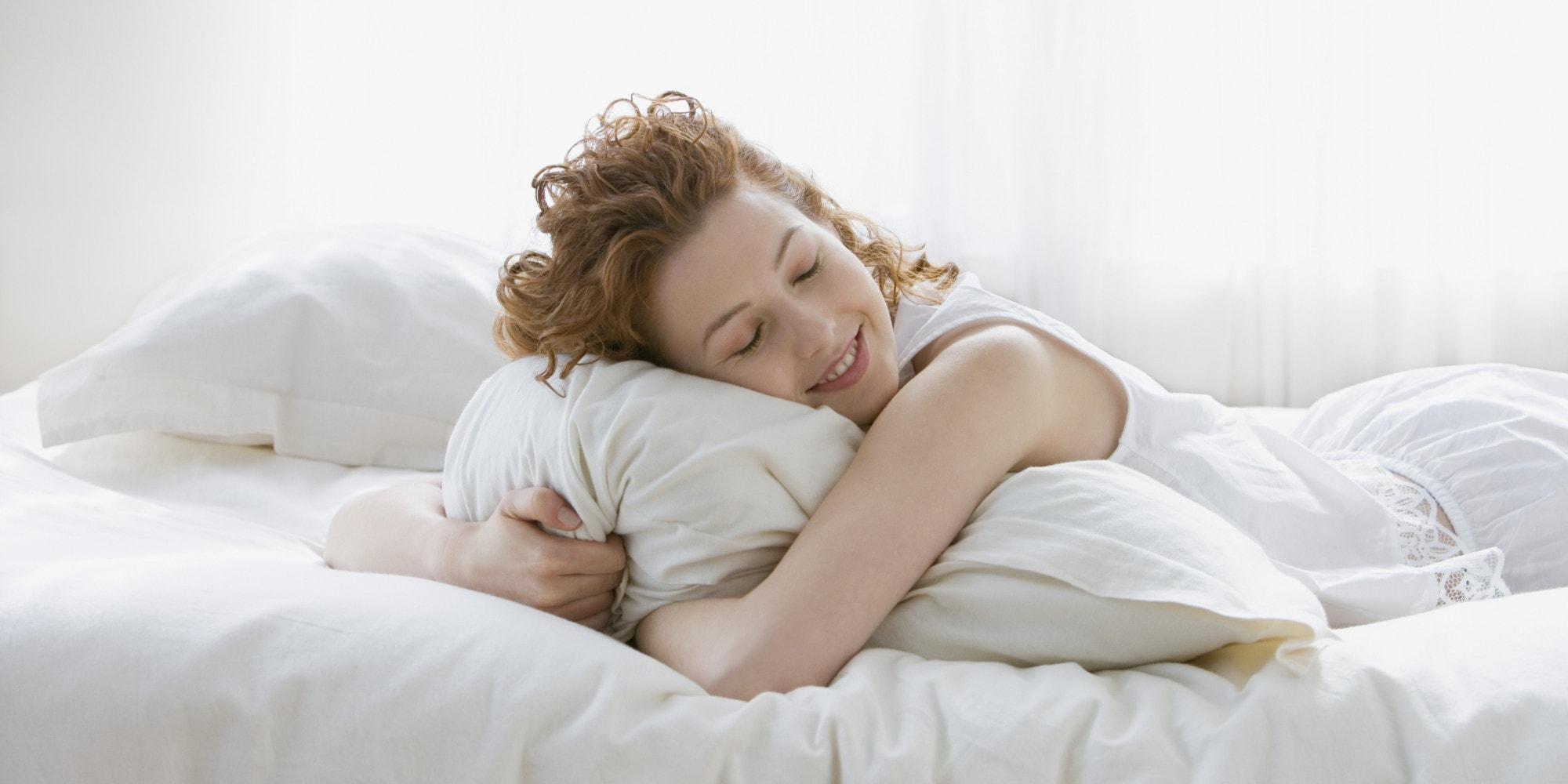 mujer durmiendo plácidamente