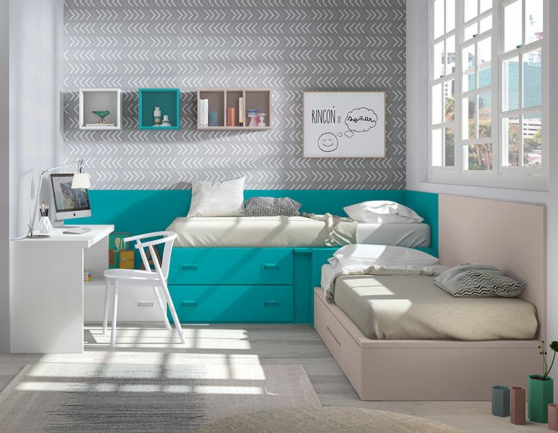 Cama compacta : Una solución ideal para el dormitorio juvenil