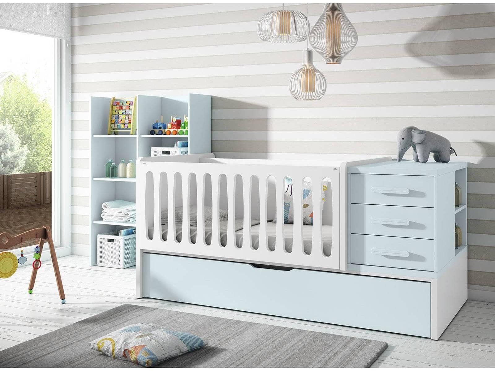 cama cuna para bebé en tonos suaves