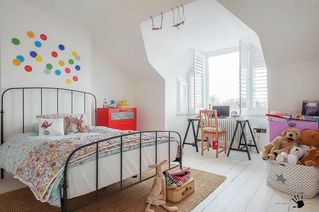 dormitorio juvenil con cama grande